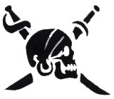 Large Pirate Skull Adhesive Stencils