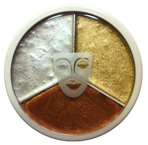 Makeup Websites on Cream Makeup Wheel With Metallic Gold  Silver And Copper Colours