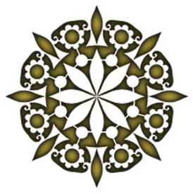 Henna Lotus Reusable Stencil Dons Hobby Shop
