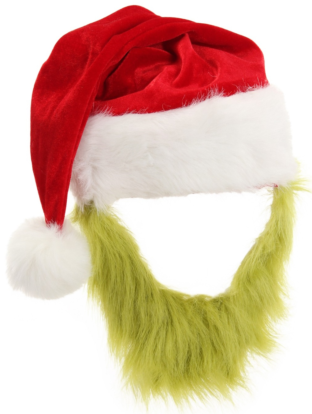 43dd552961f The Grinch Santa Hat with Beard
