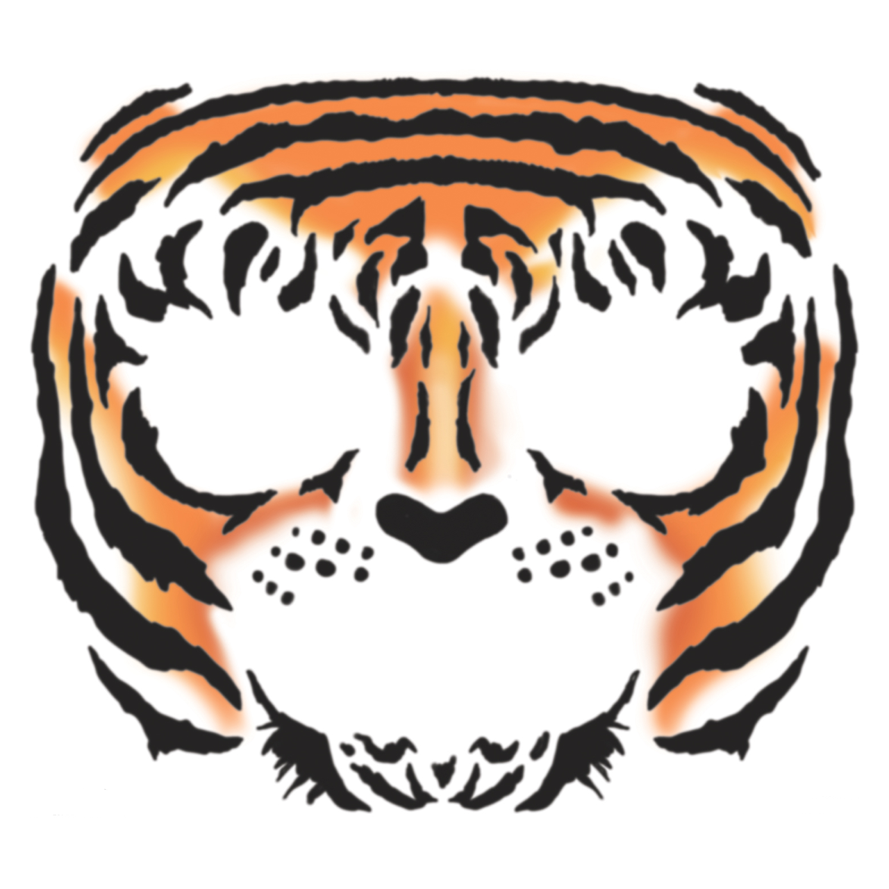 Tinsley Tiger Face Temporary Tattoo Dons Hobby Shop