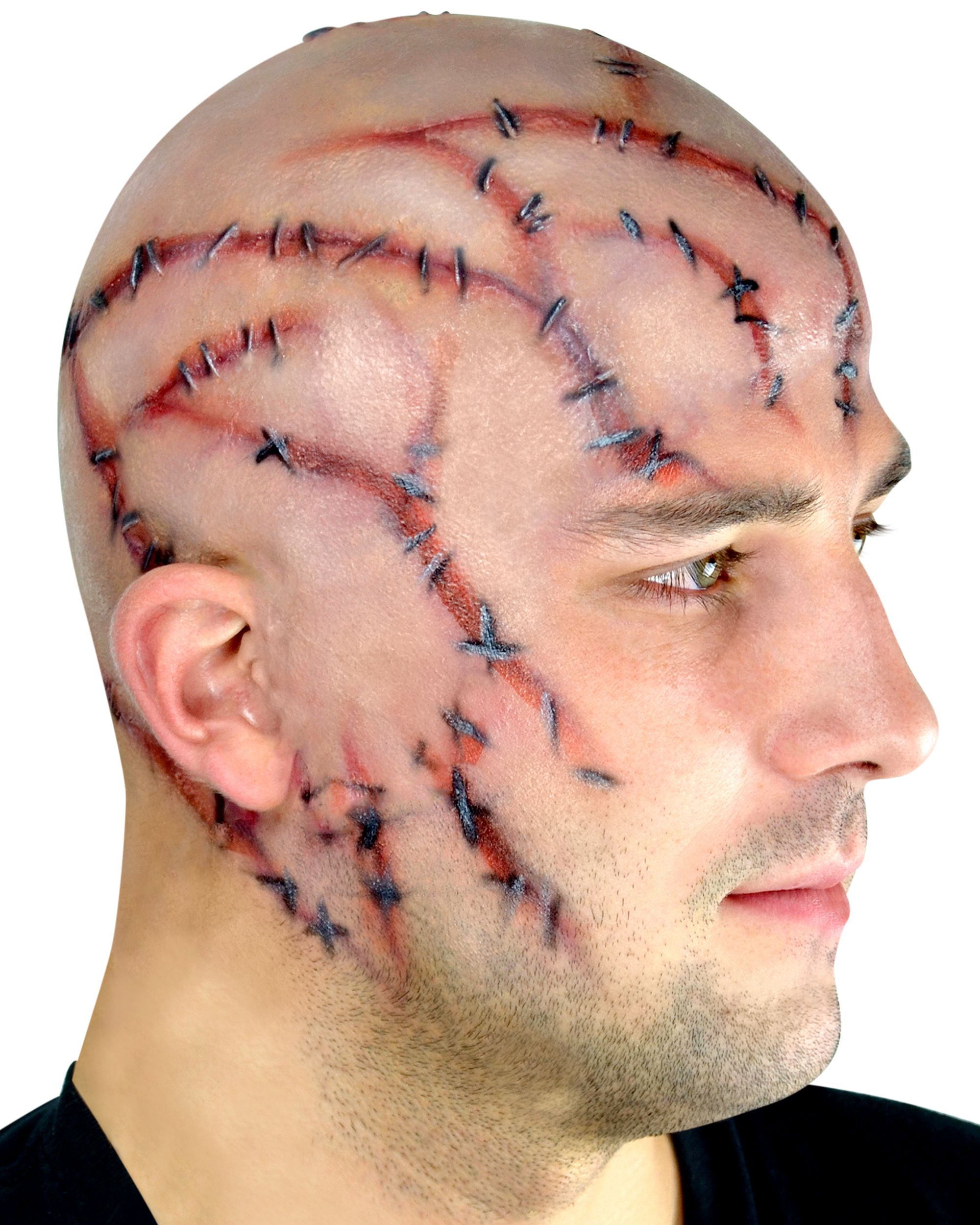 Woochie Stitches Bald Cap Prosthetic | Dons Hobby Shop